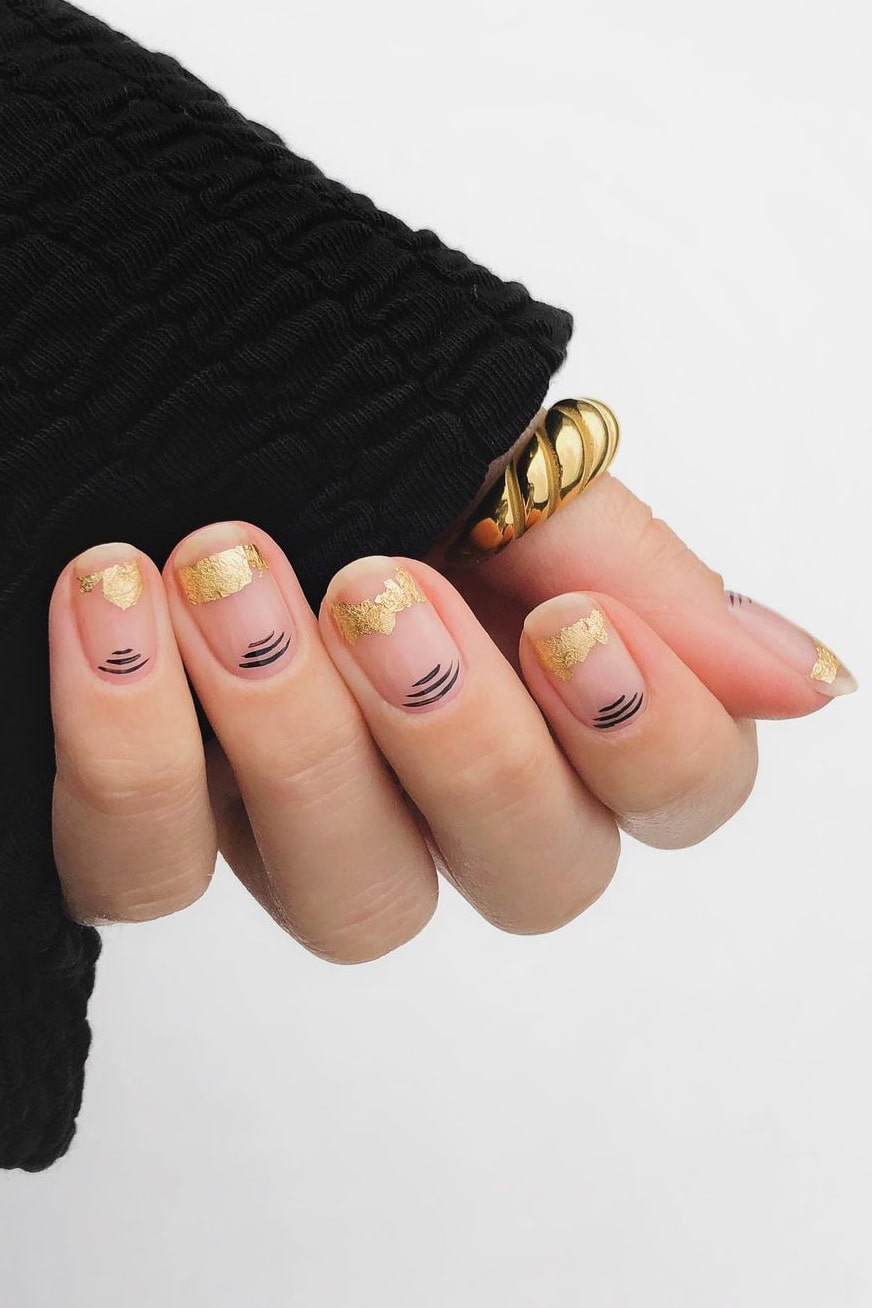 Gorgeous negative space nails