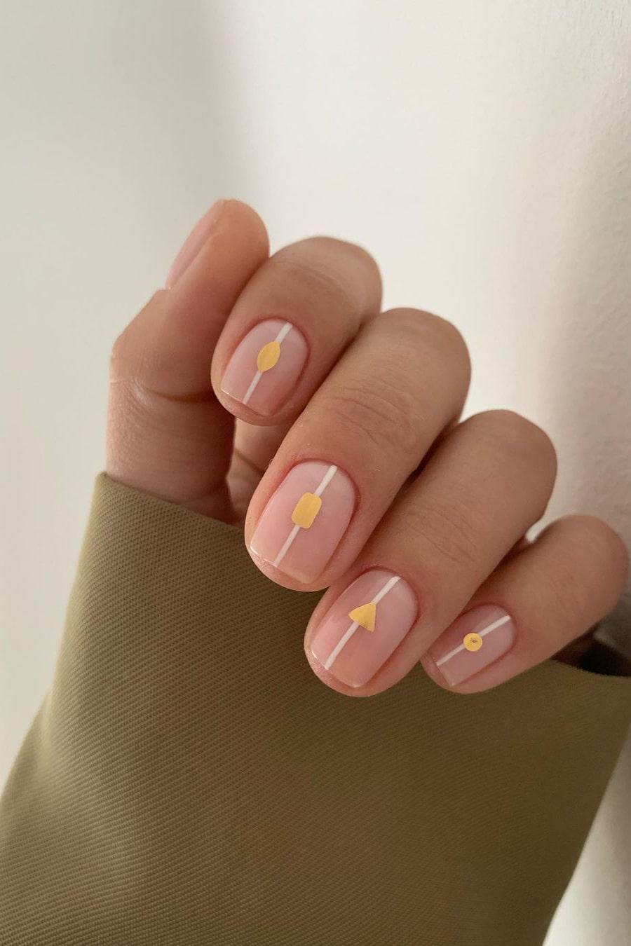 Simple geometric negative space nails