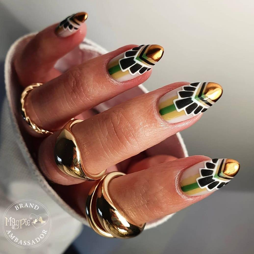 Art Deco Negative Space Nails