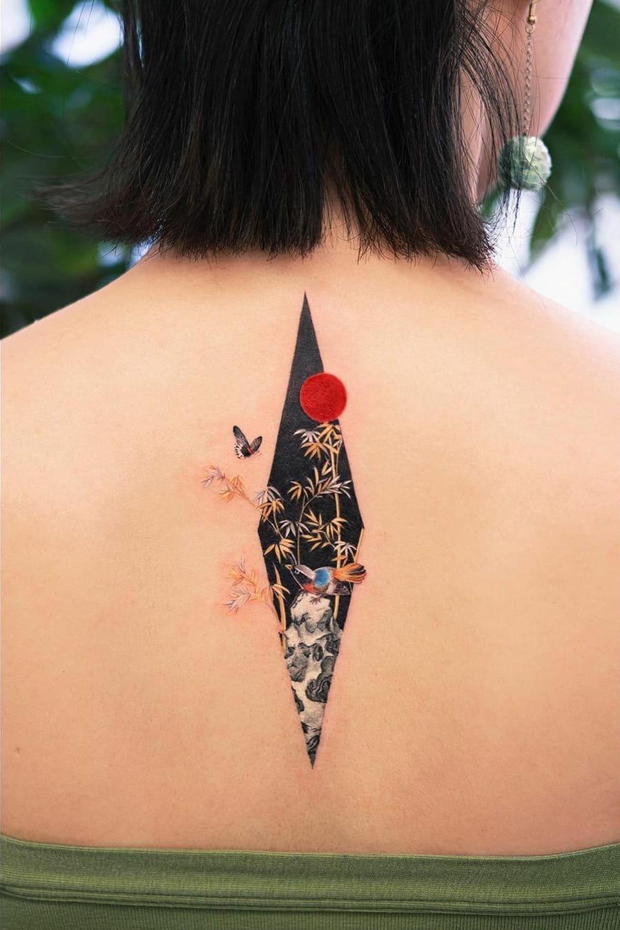 Japanese back tattoo