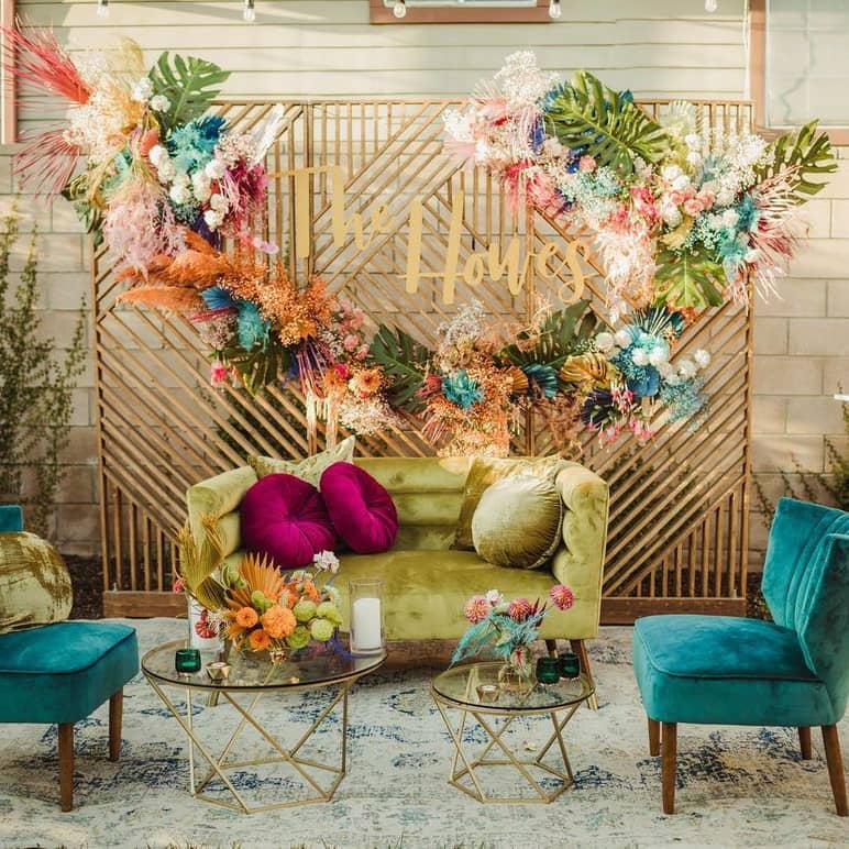 Summer wedding lounge