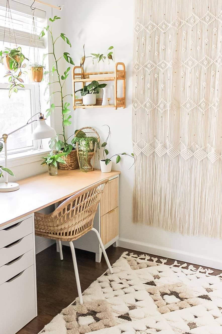 Modern style and boho office