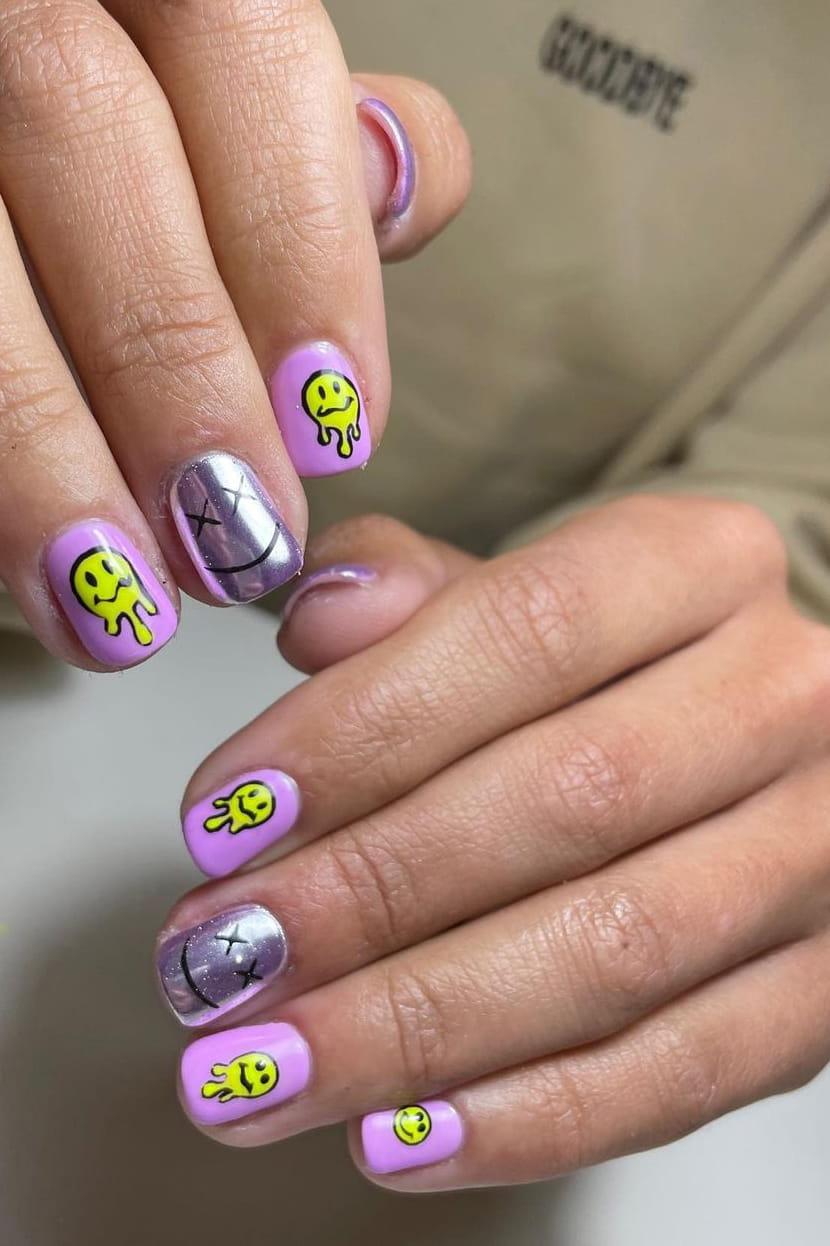 Interesting chrome nails