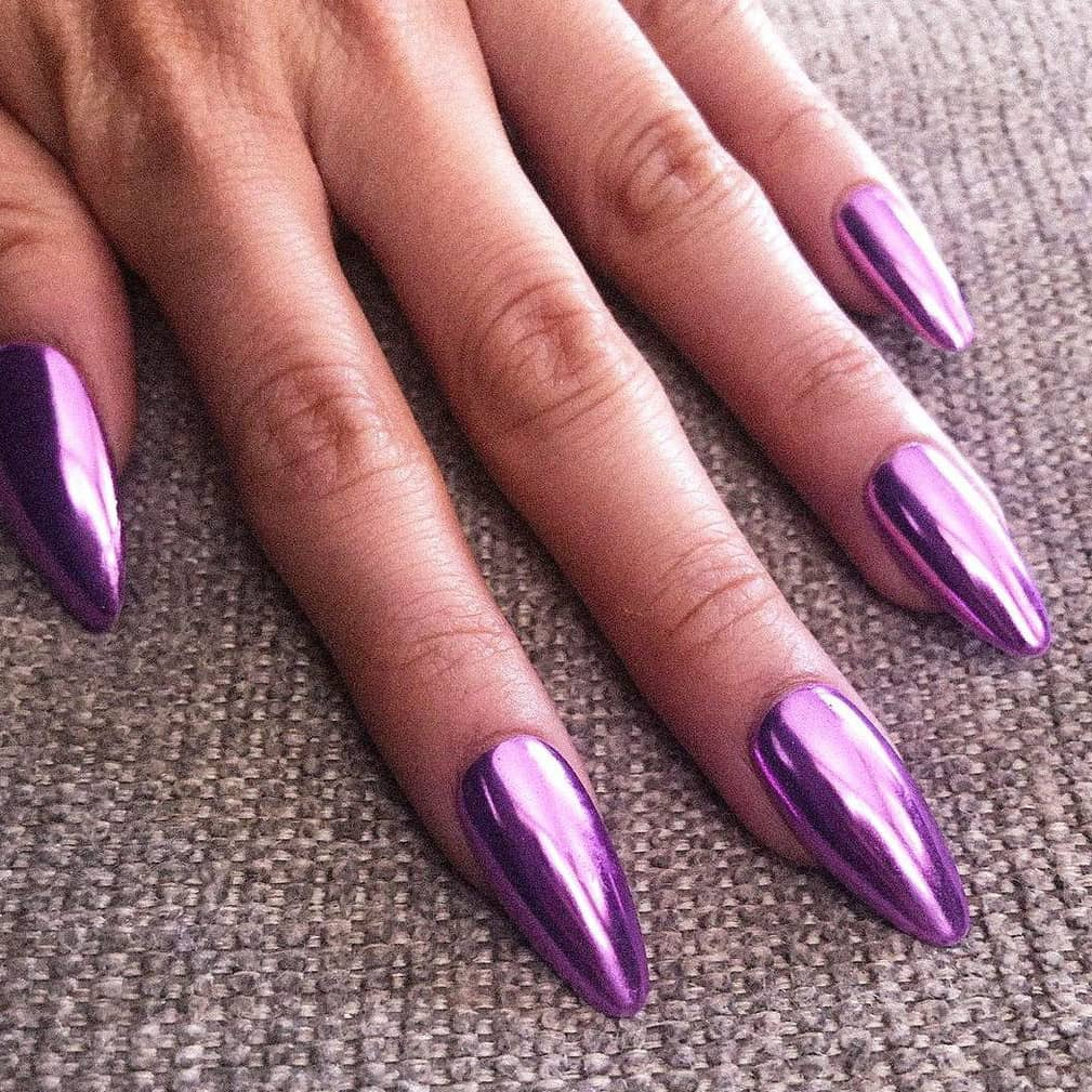 Classic chrome nails