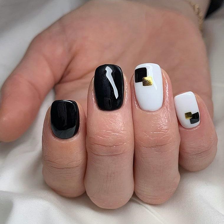 Subtle chrome nails