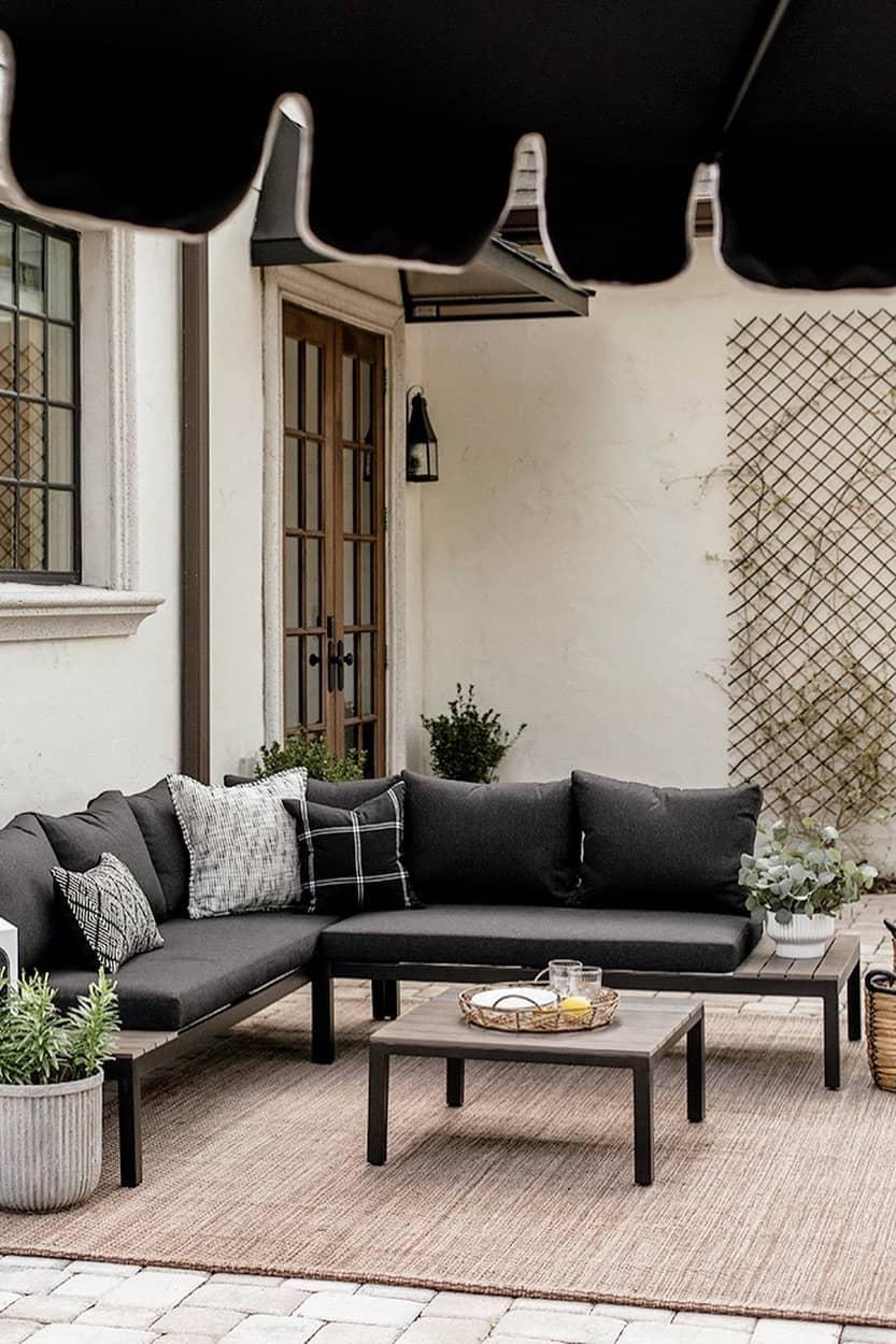 Black outdoor decoration