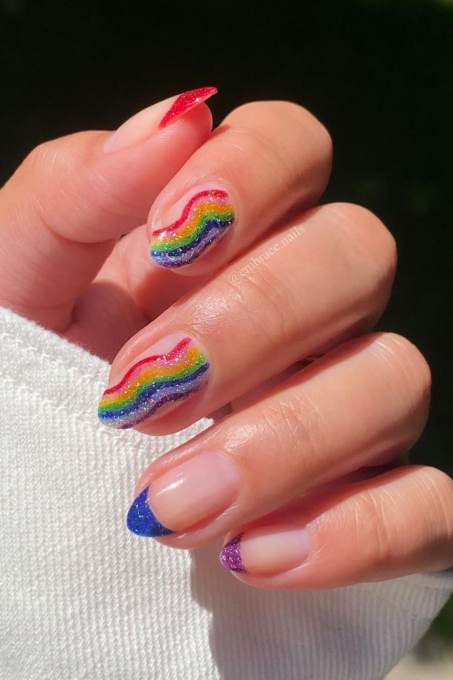 Fun rainbow nails
