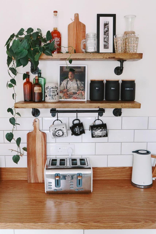 Modern rustic shelf
