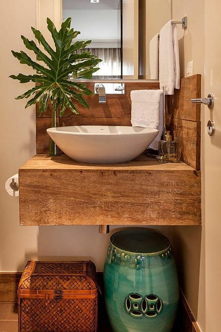 Solid wood bathroom countertops