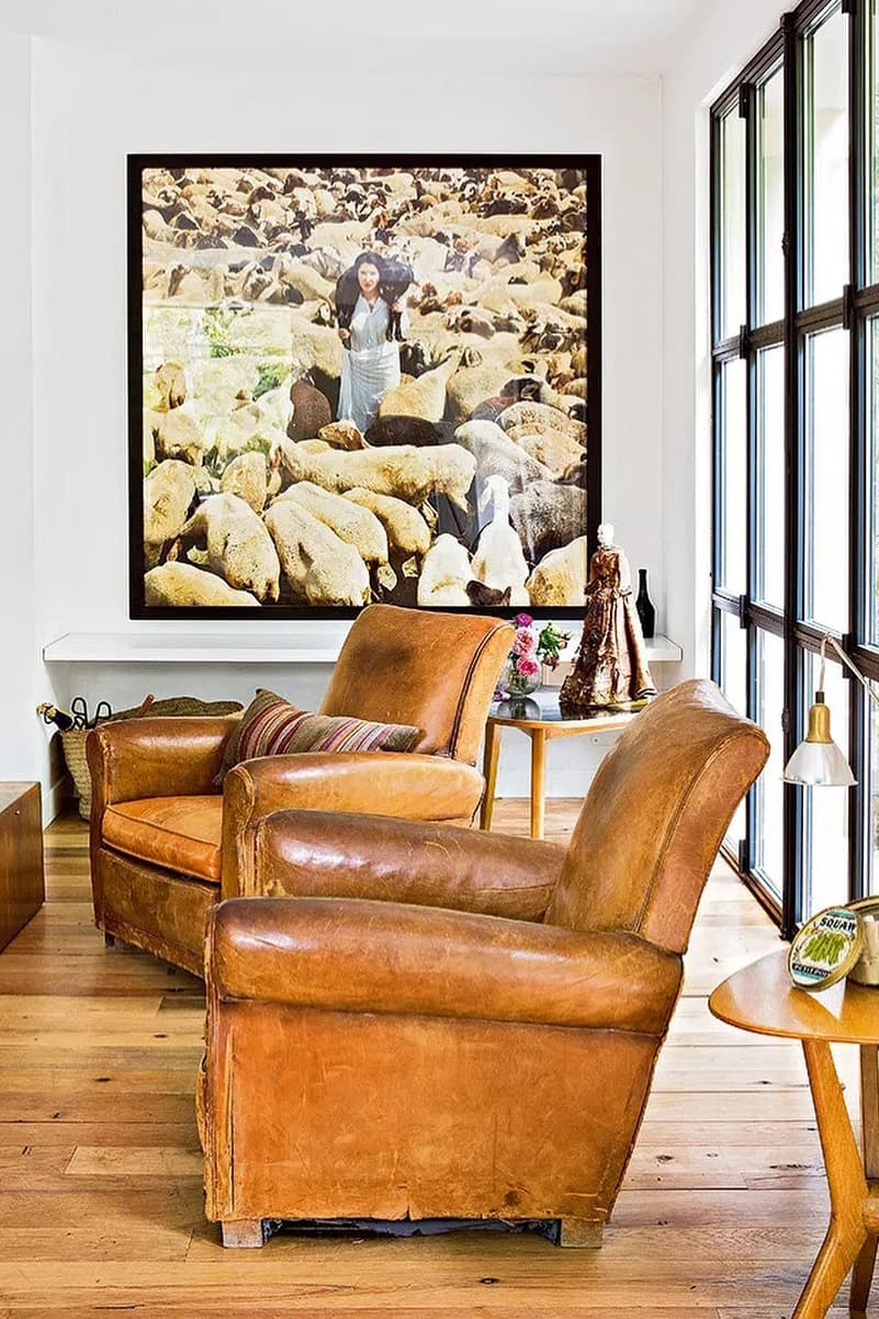Club sofa for rustic home decoration