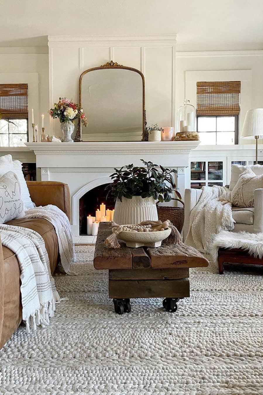 Simple rustic living room decoration