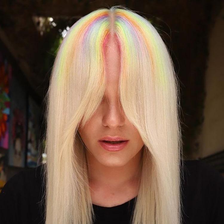 Creative summer hair color