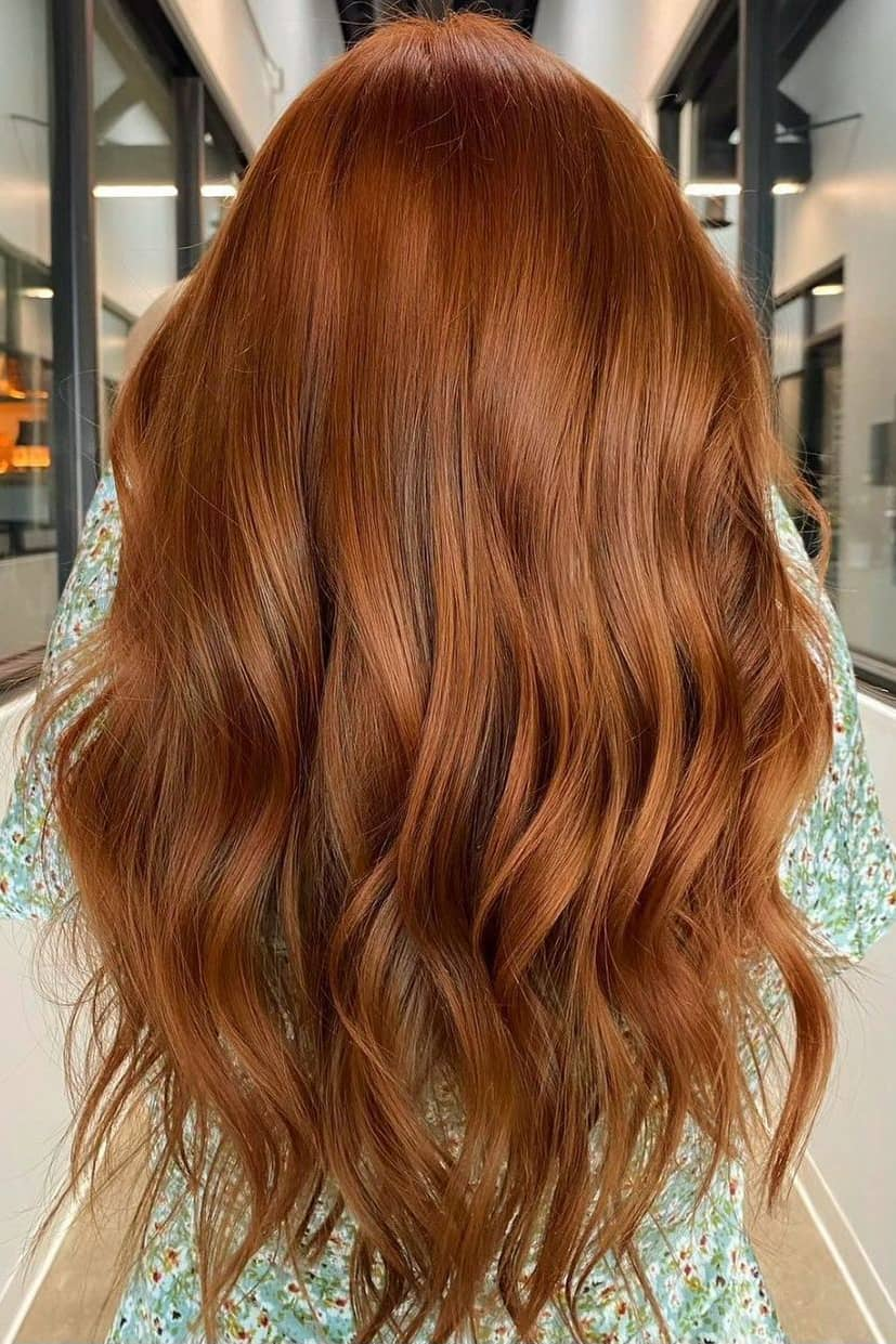 Light red summer hair color