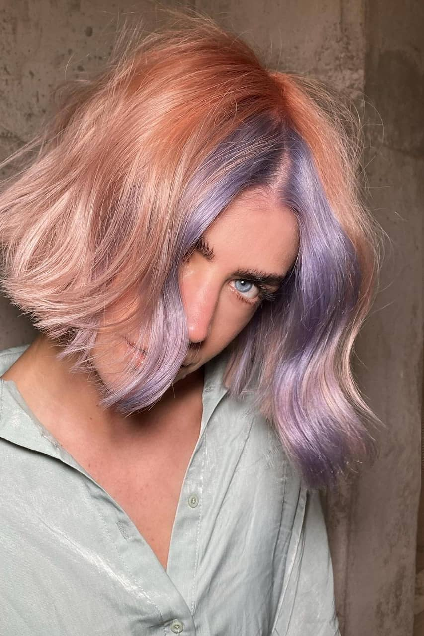 Purple and pink summer hair color