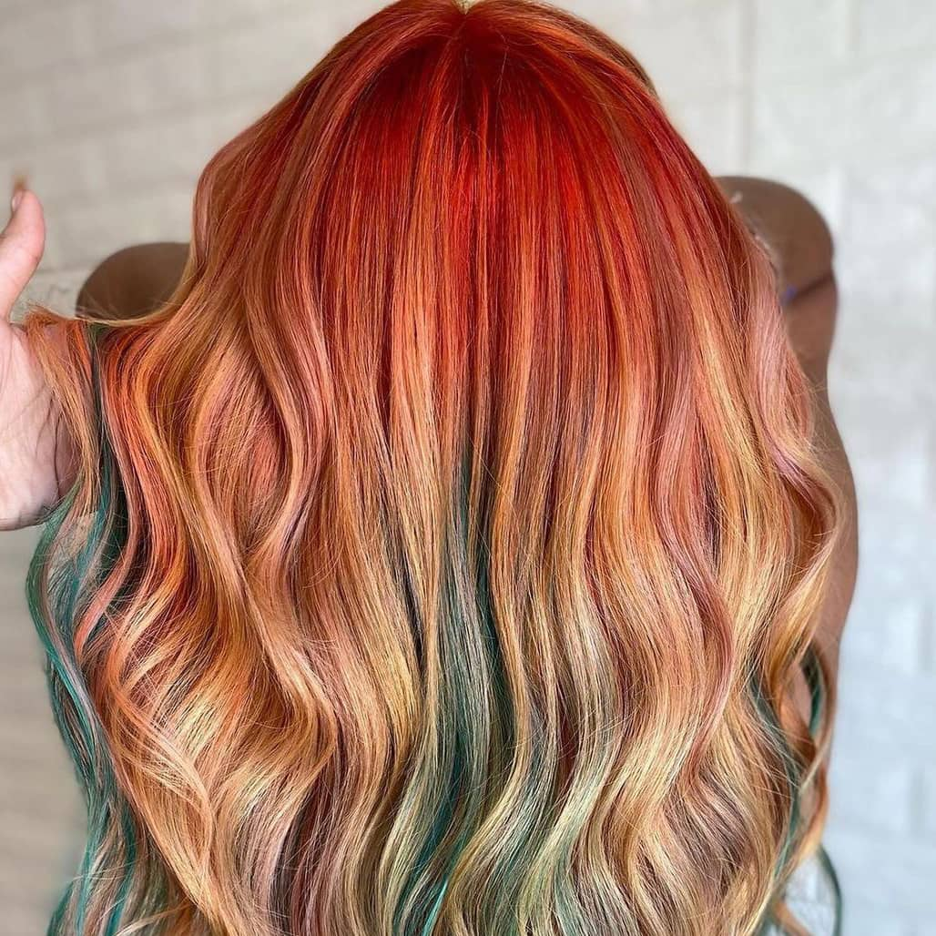 Sunset themed hair color