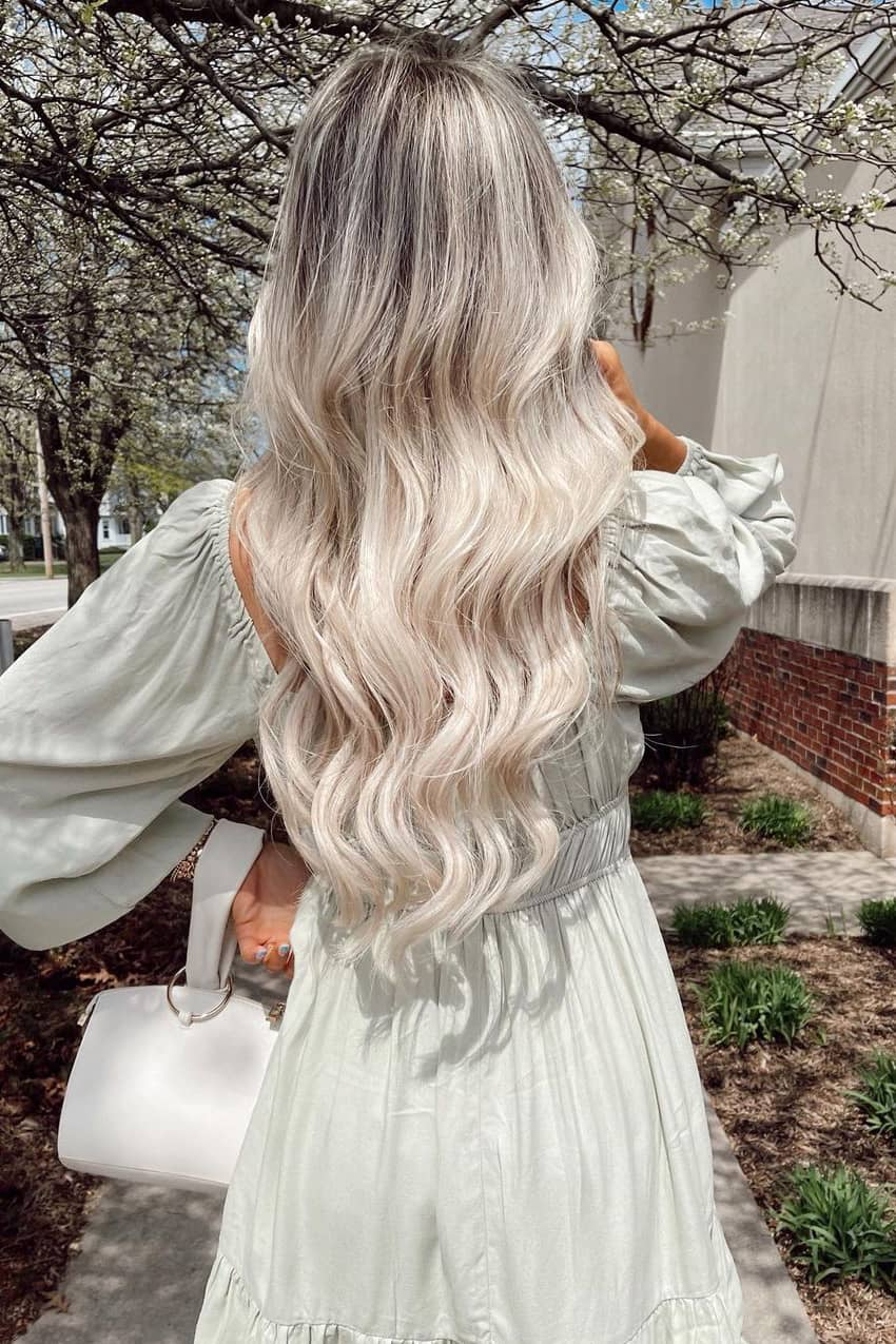 Gray and silver summer hair color