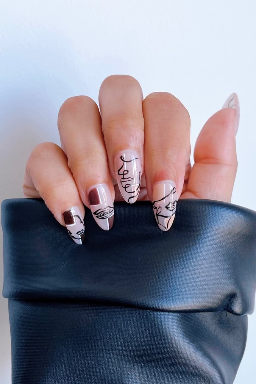 Abstract oval nails