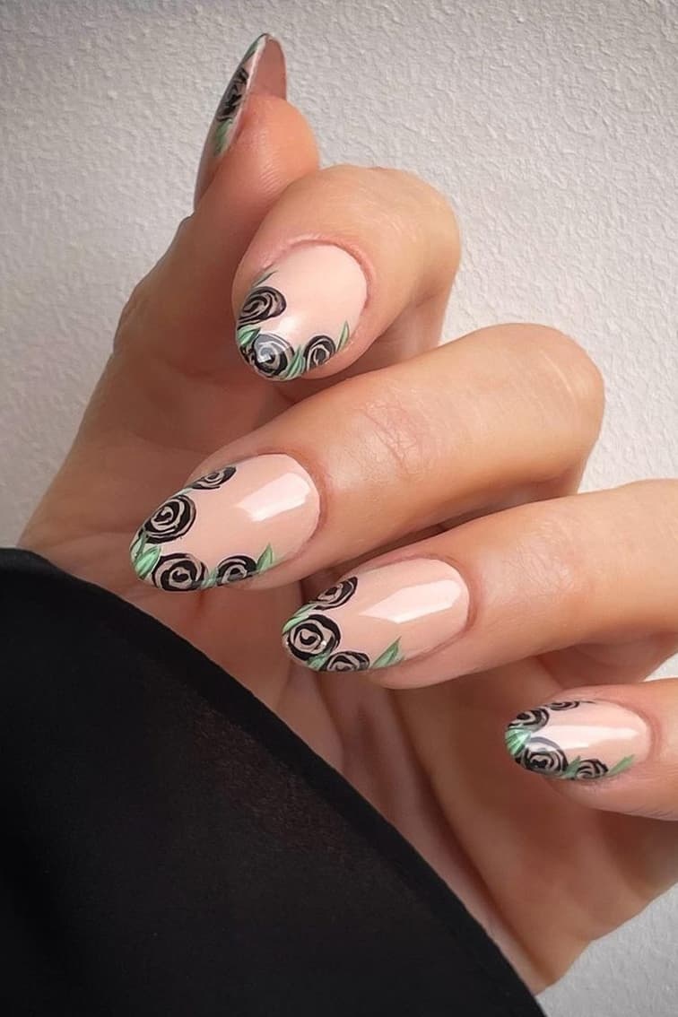 French rose nails