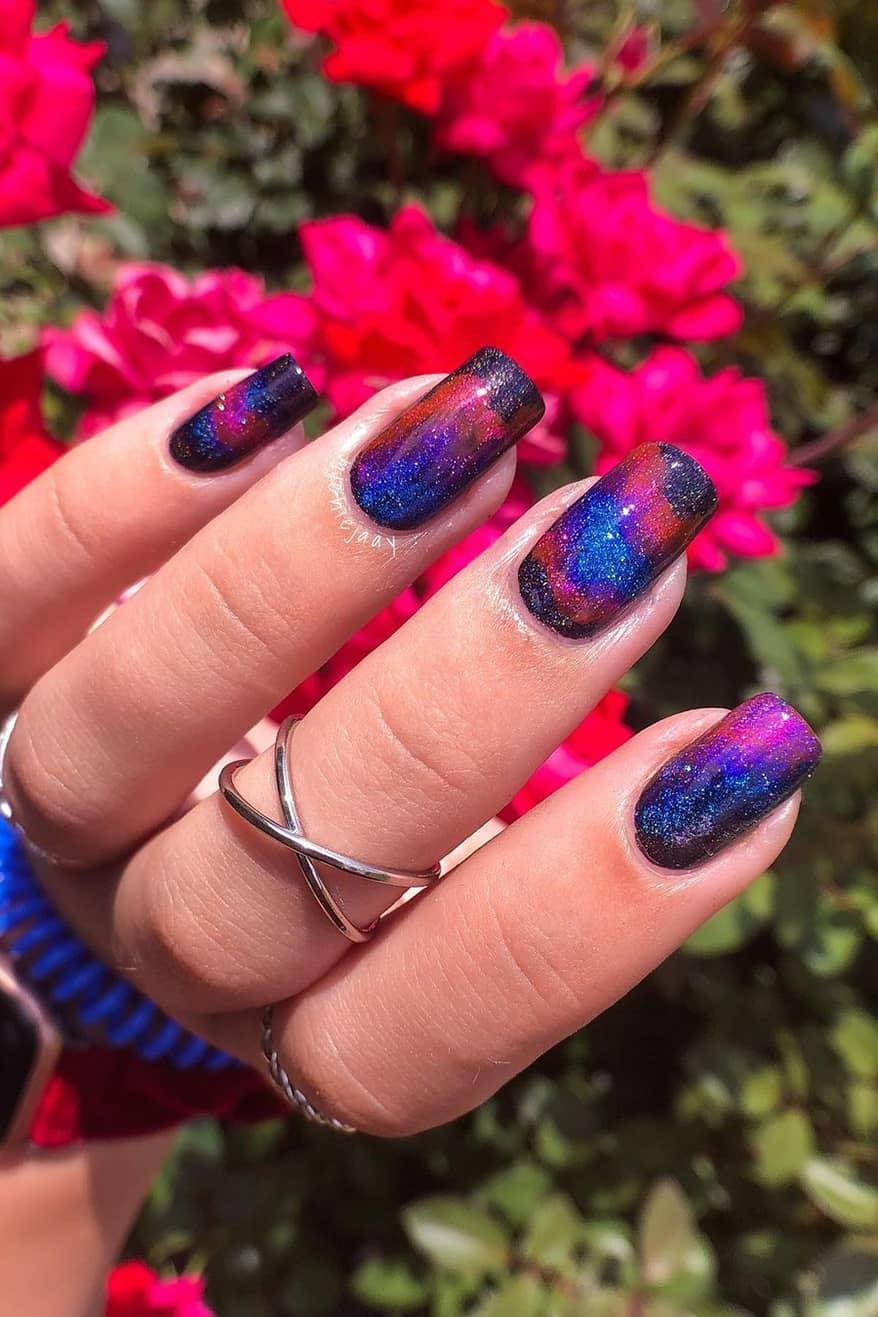 Gradient Galaxy Nails
