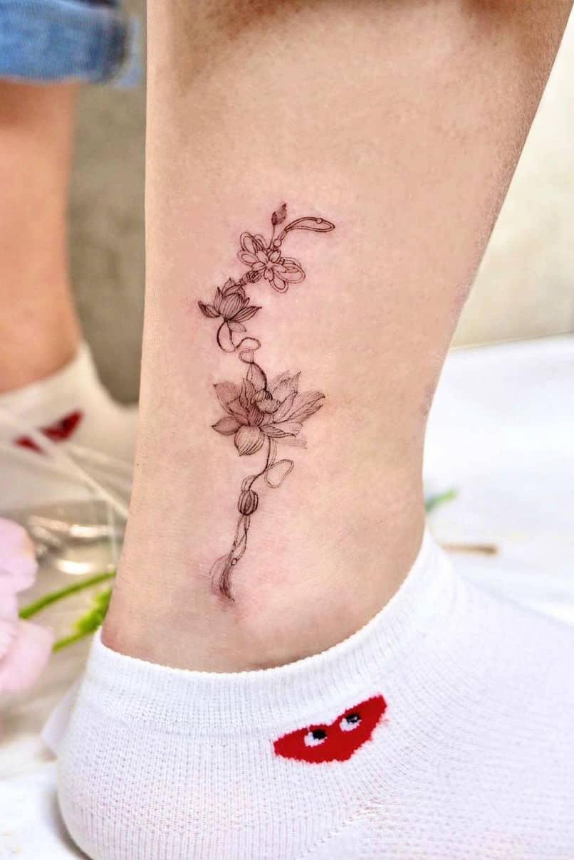 Lucky lotus tattoo