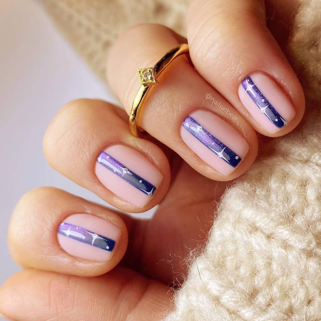 Midline galaxy short nails