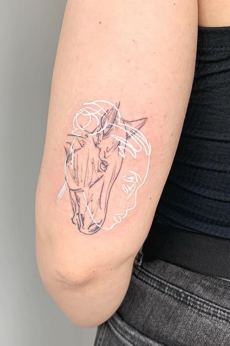 Mixed white tattoo