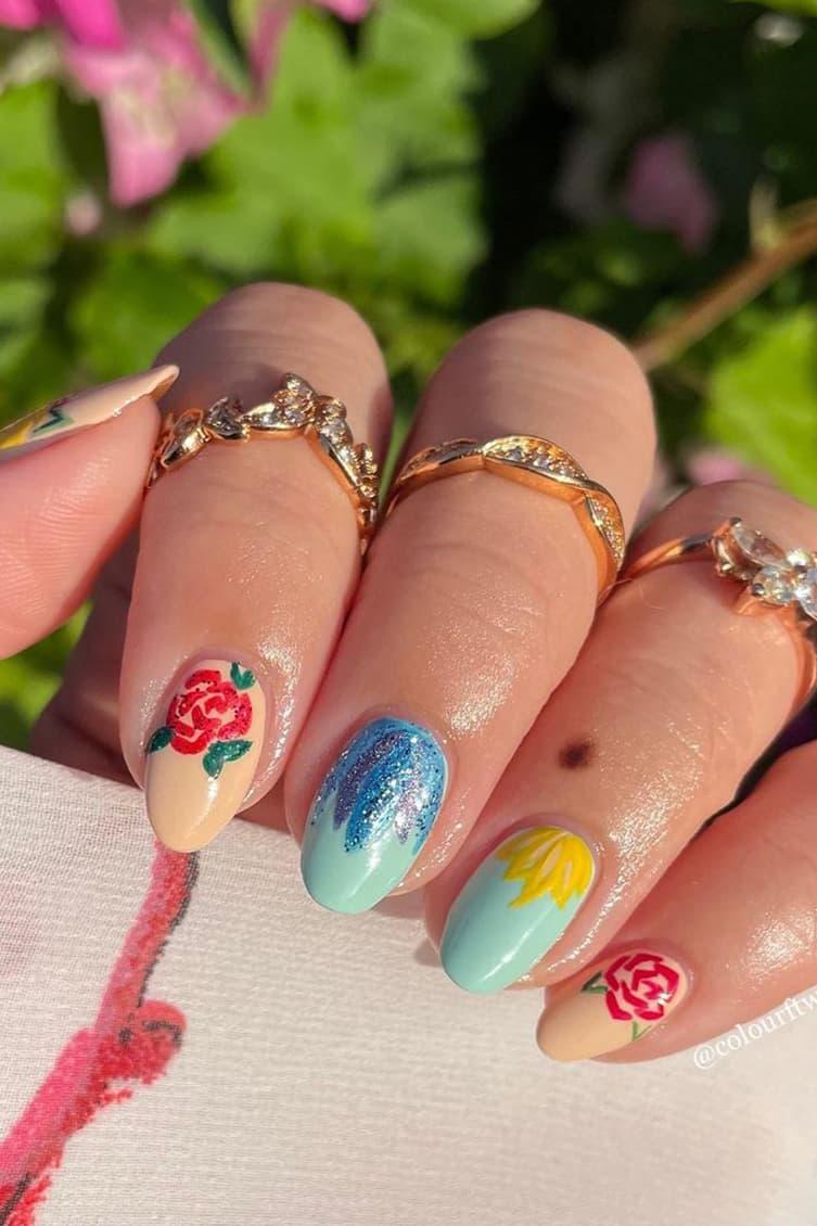 Pastel rose nails