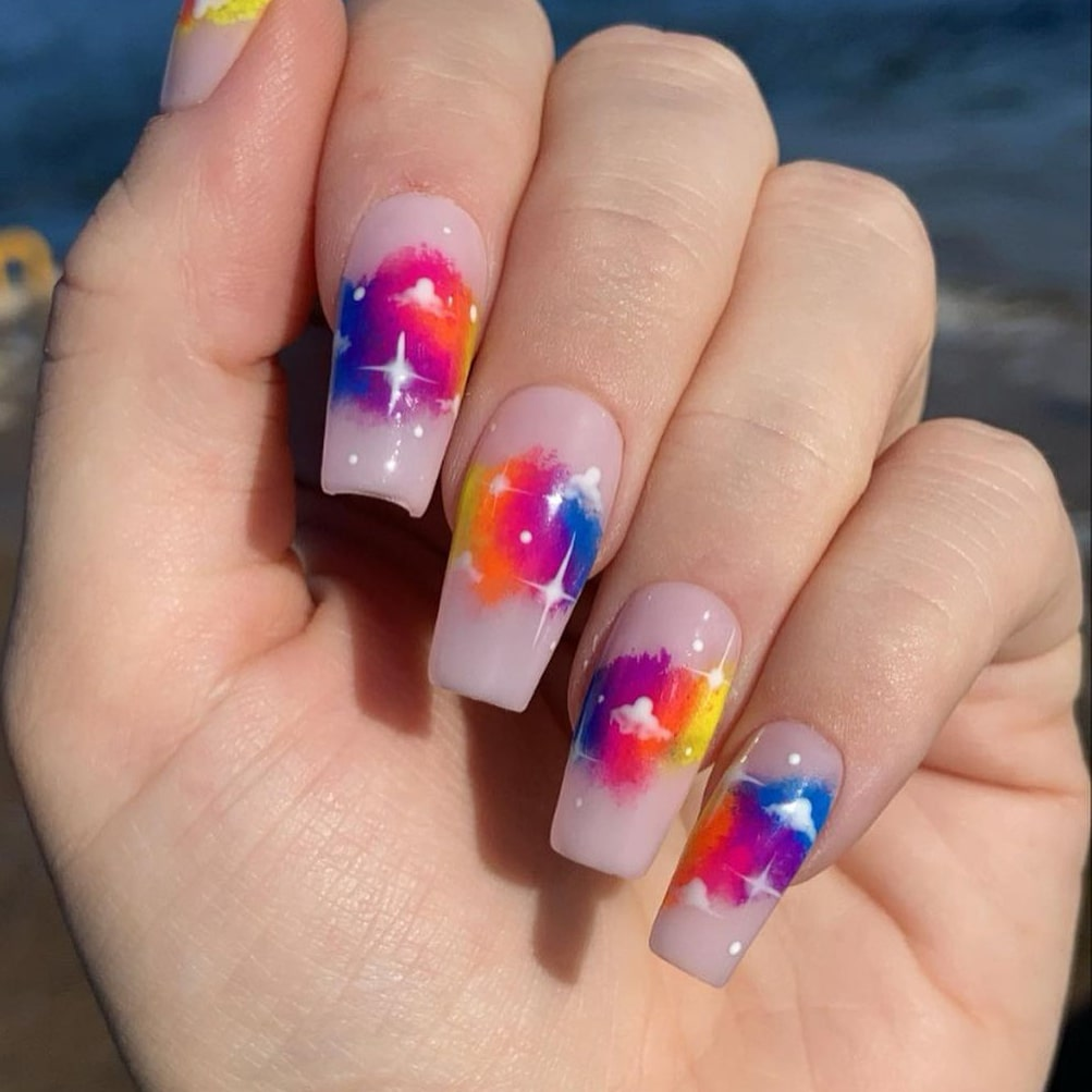 Rainbow Galaxy Nails