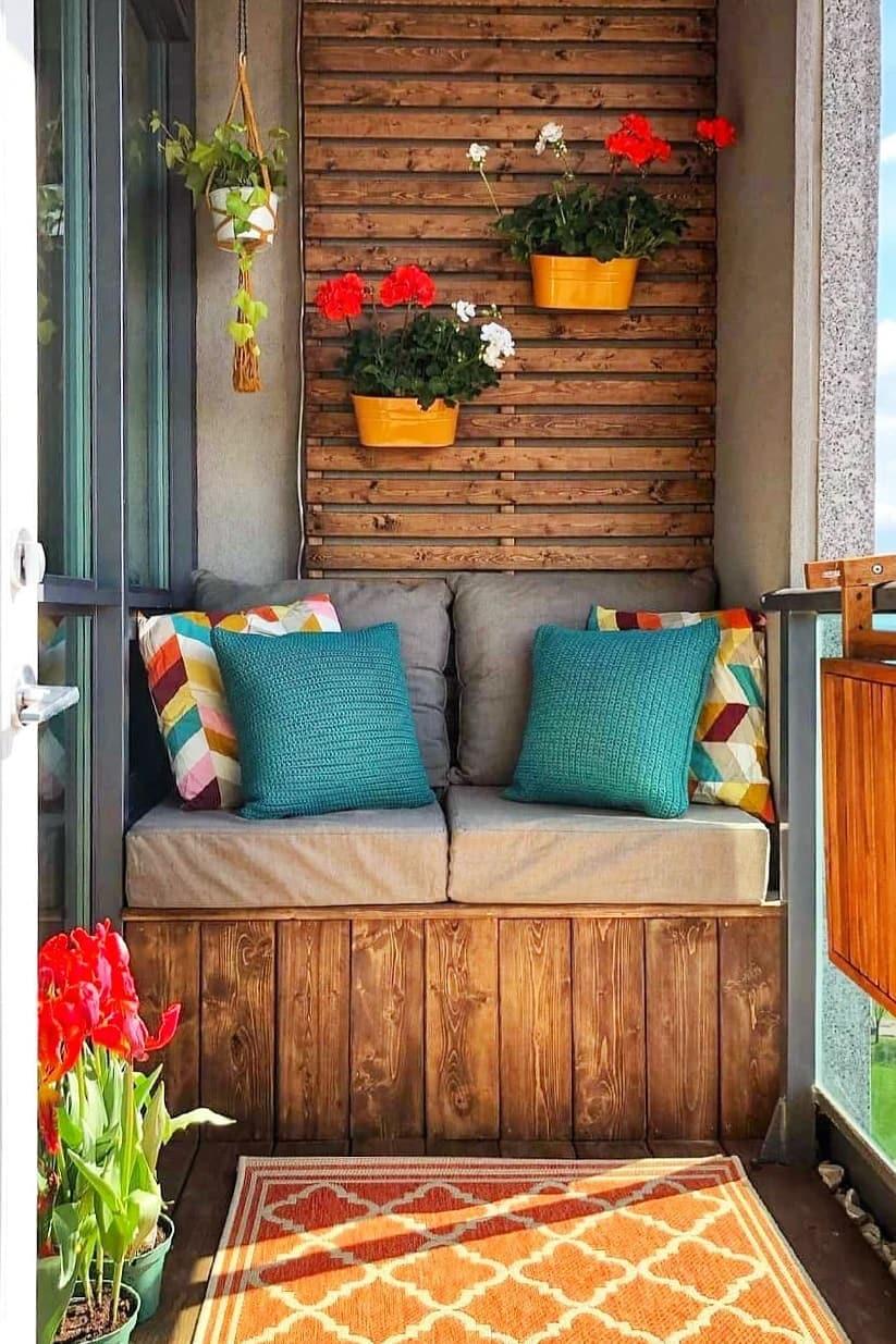 Rustic small balcony