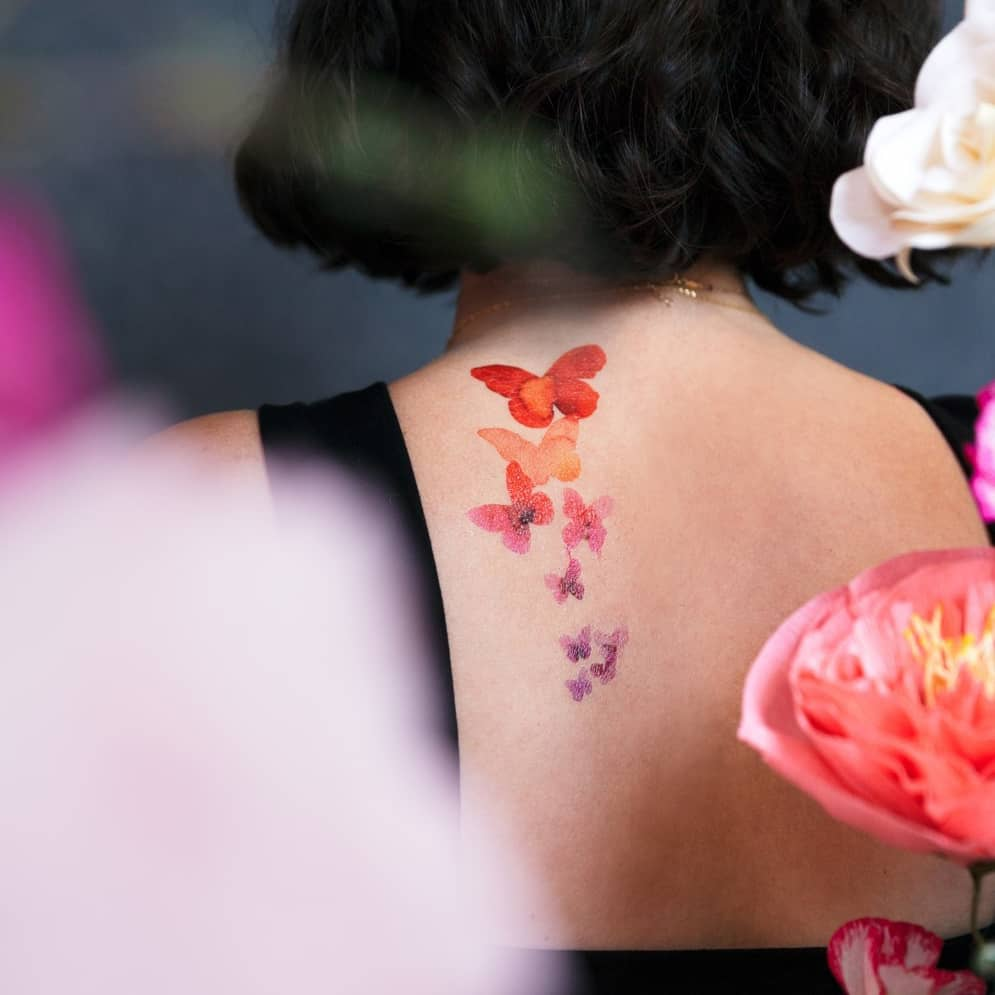 Temporary Color Butterfly Tattoo