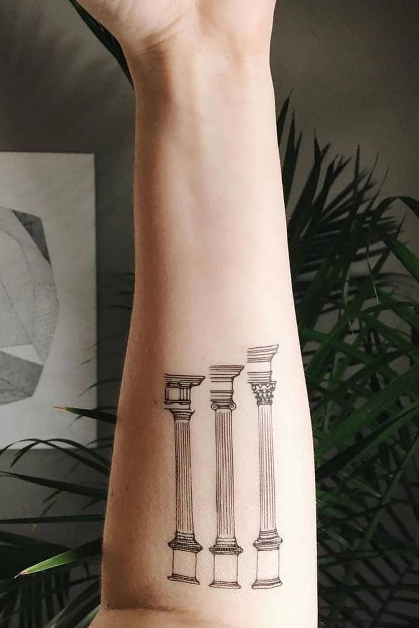Temporary Landscape Tattoo