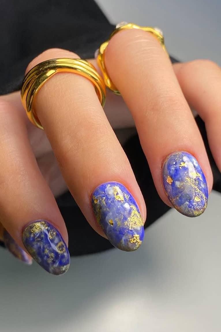 Unique galaxy nails