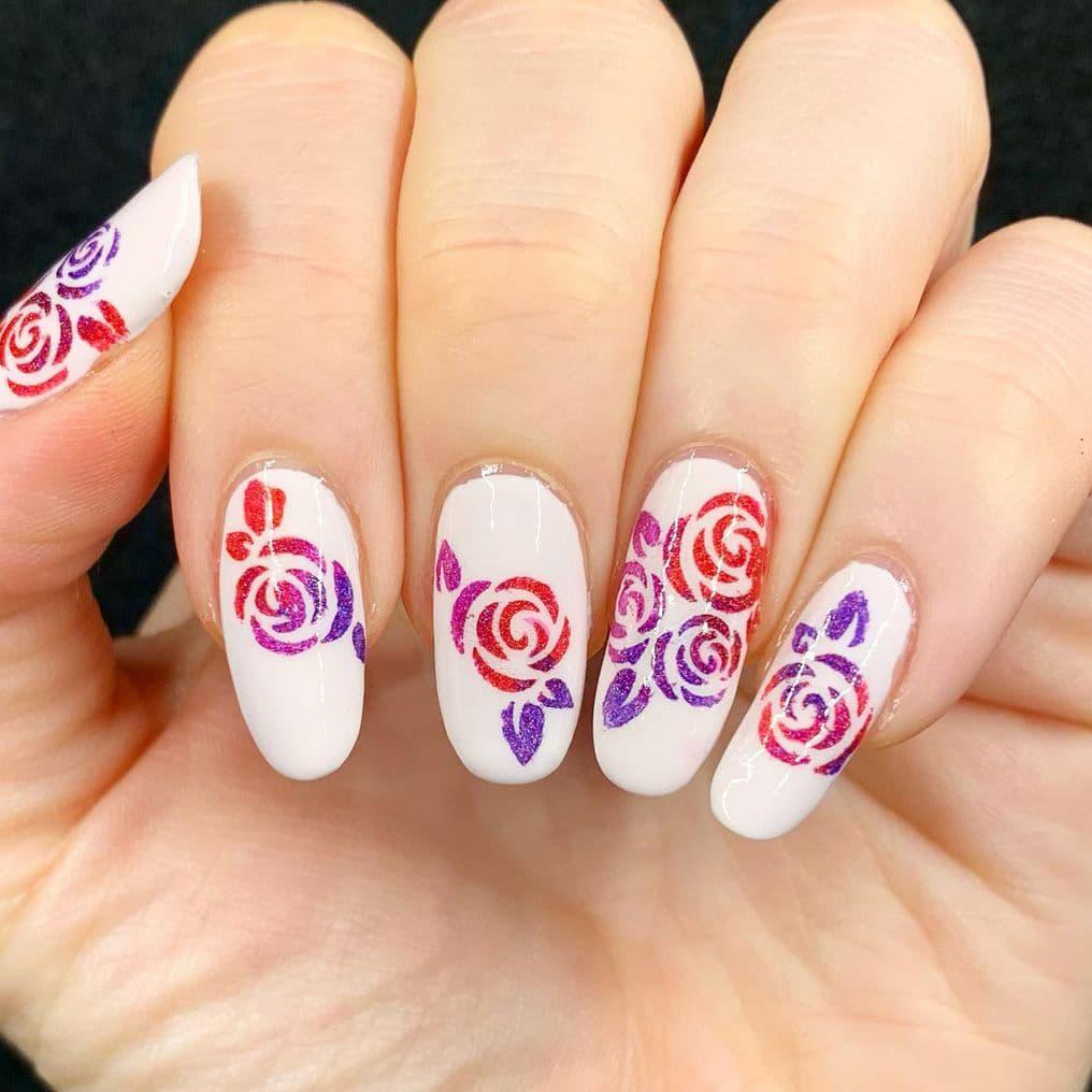 White rose nails