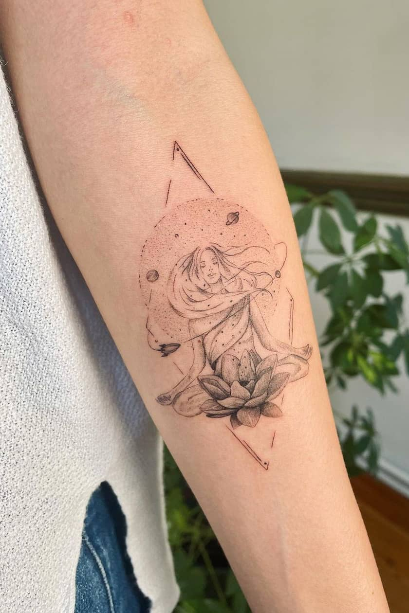 Yoga lotus tattoo