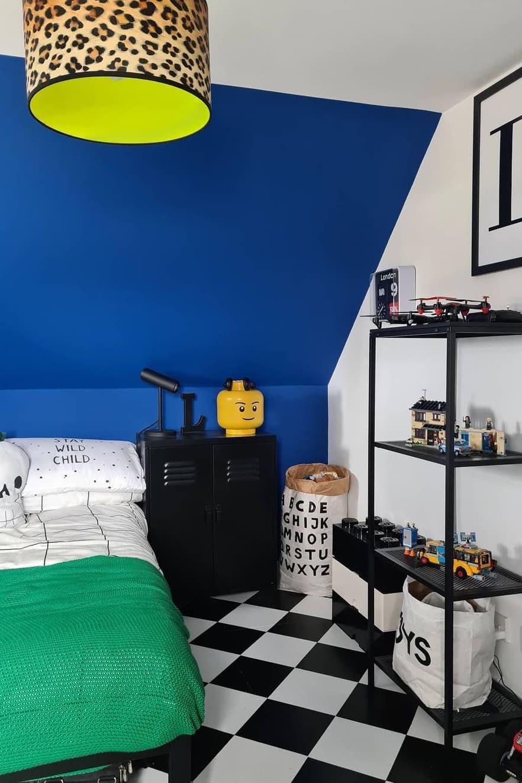 Blue small bedroom