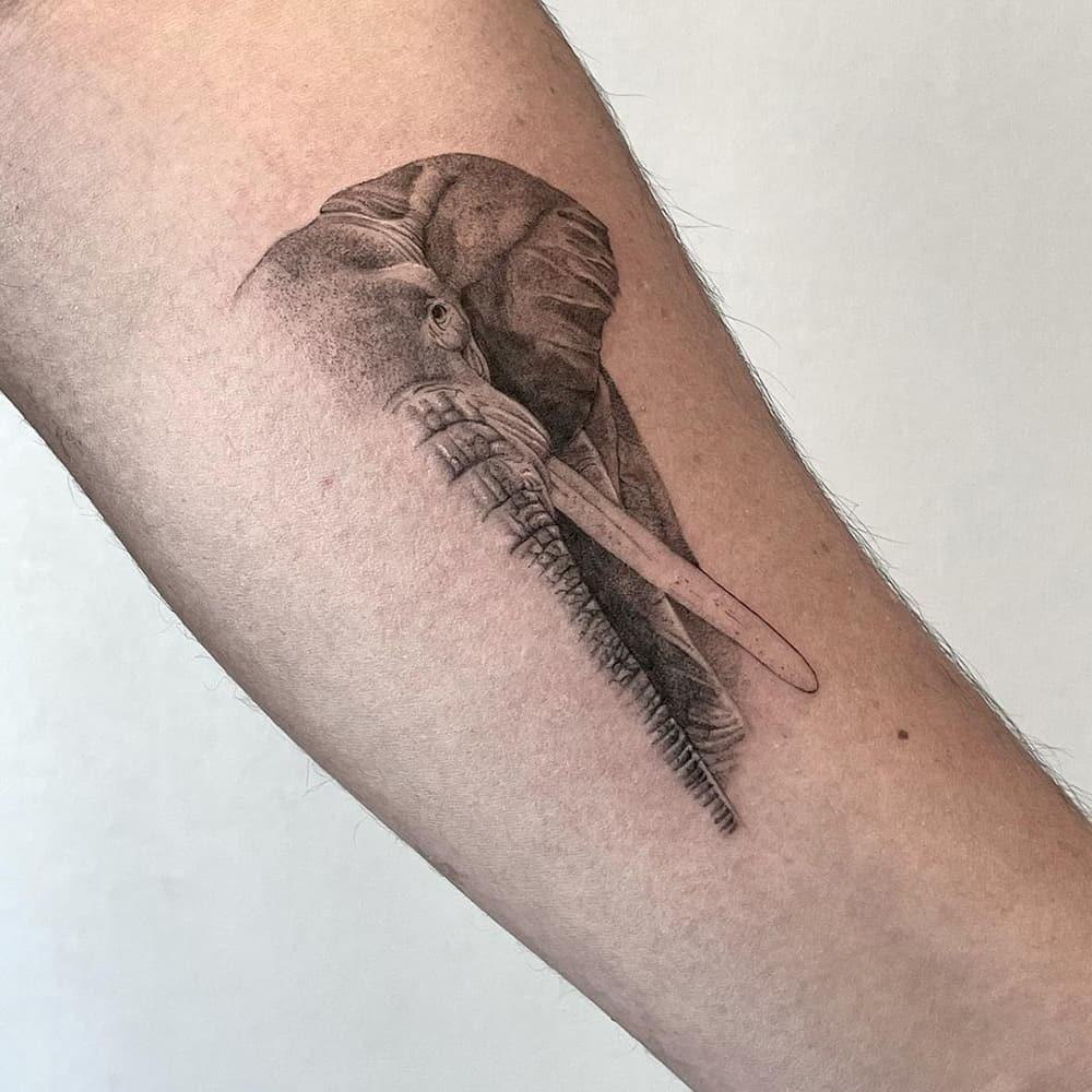 Couple Elephant Tattoo