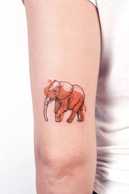 Creative Elephant Tattoo