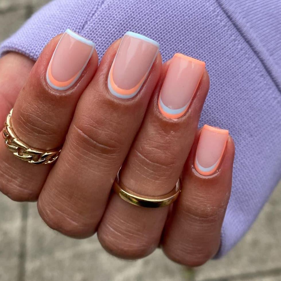 Creative orange nails