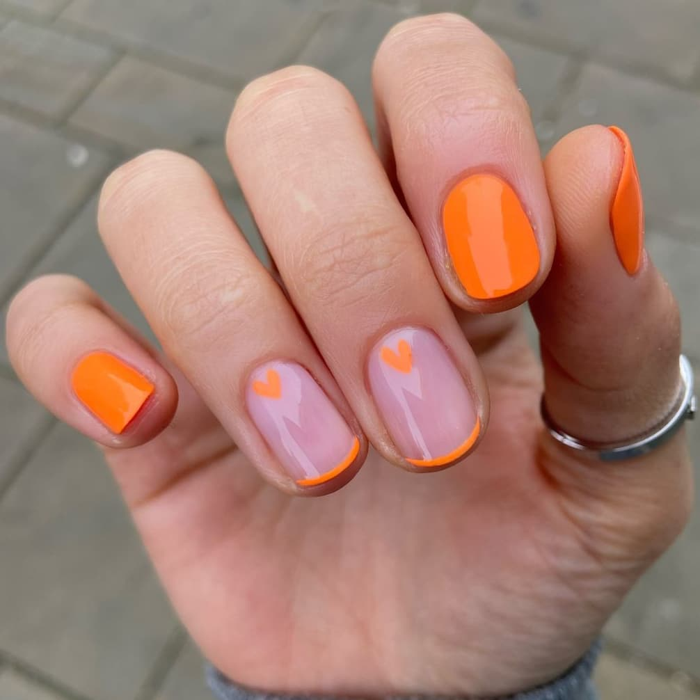 Cute orange nails