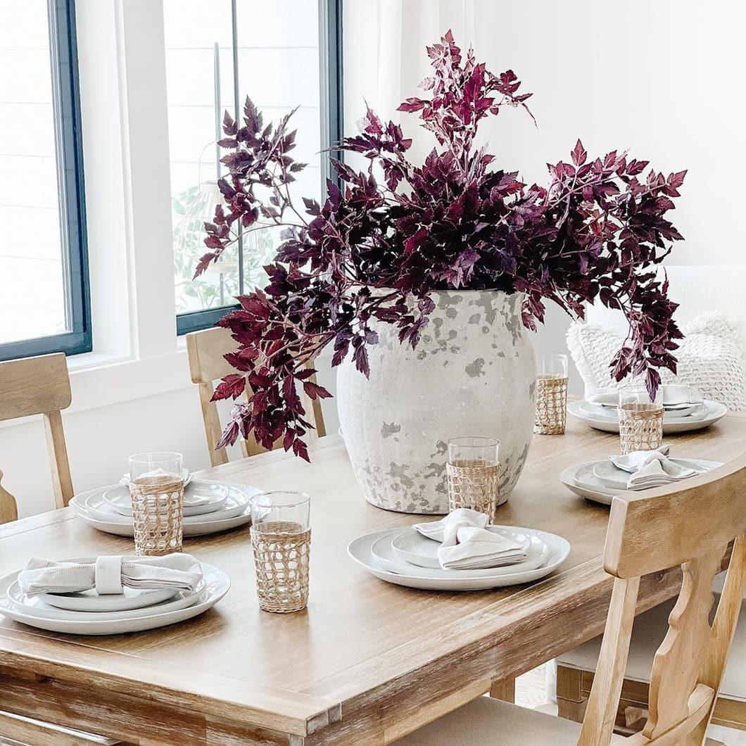 Fall purple decor