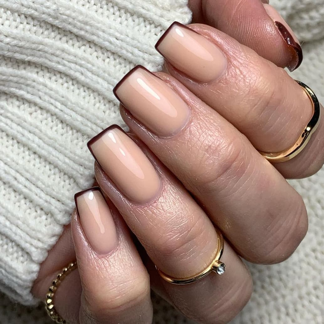 French autumn nails