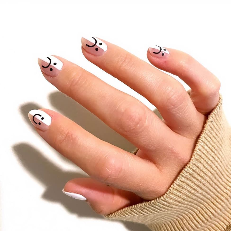 Fun black and white nails
