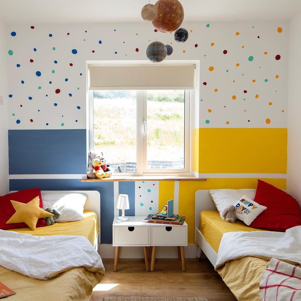 Minimalist colorful walls