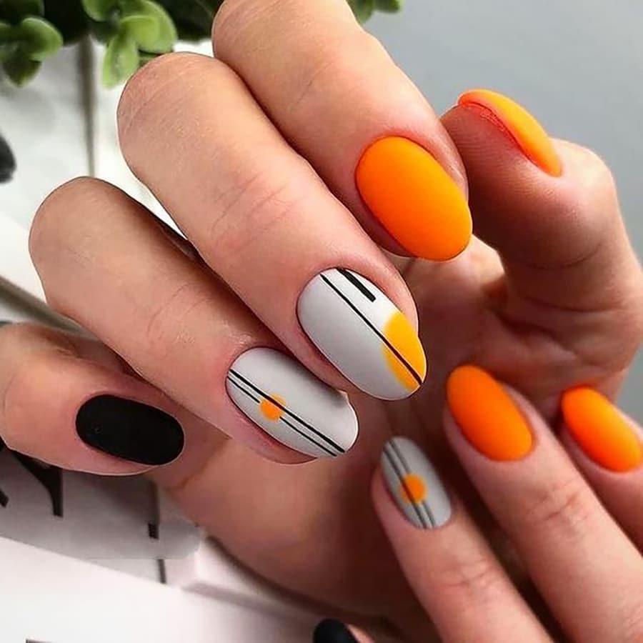 Neon autumn nails