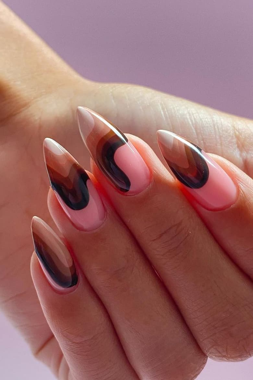 Rainbow autumn nails