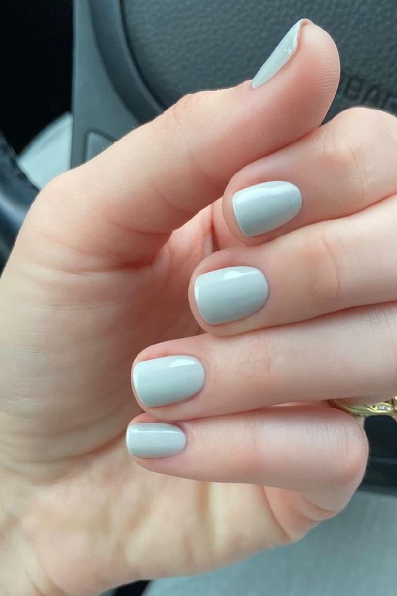 Short gray nails