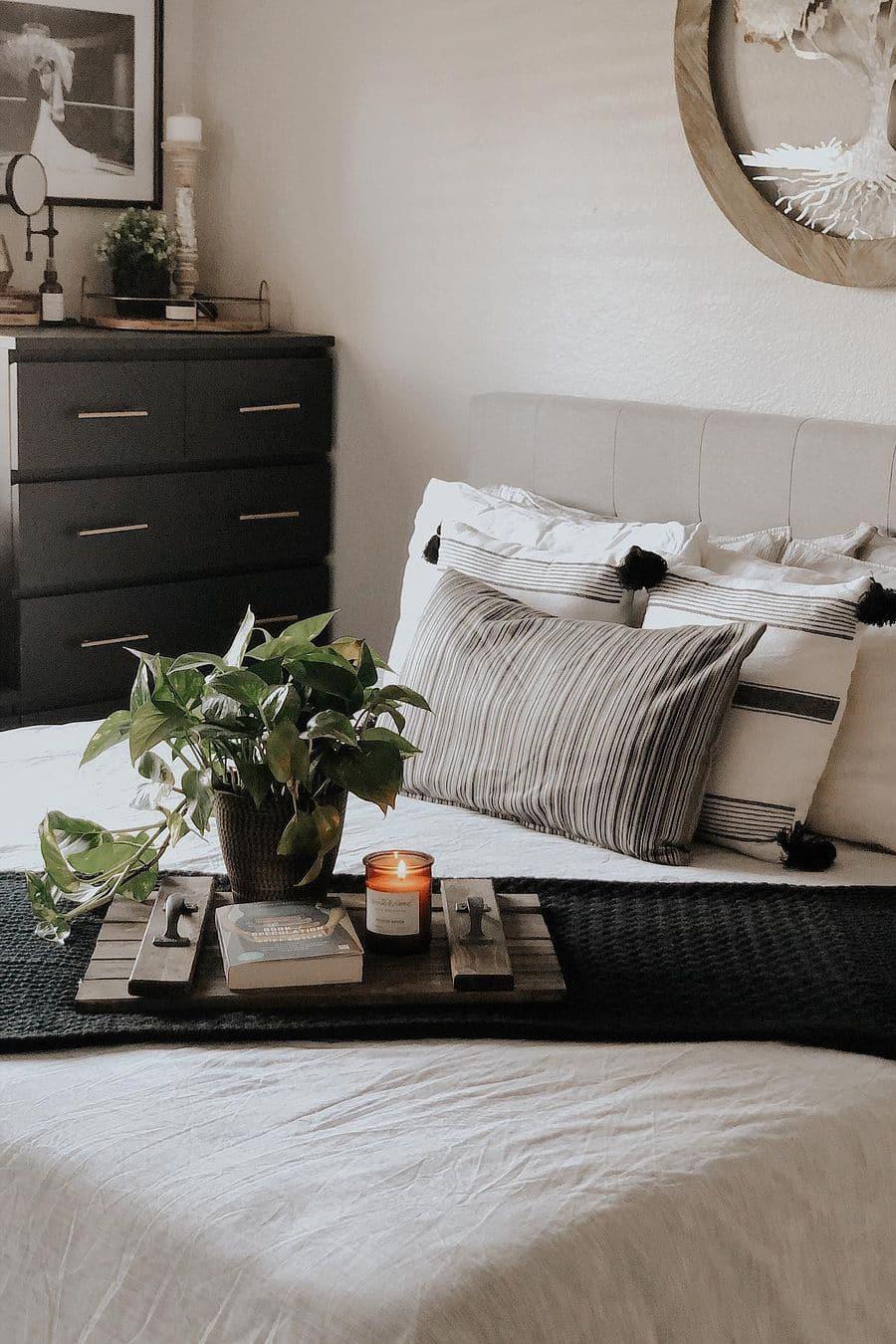 Small black bedroom