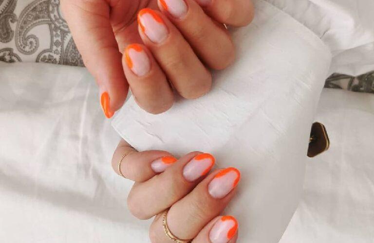25 Vibrant Orange Nail Art Designs