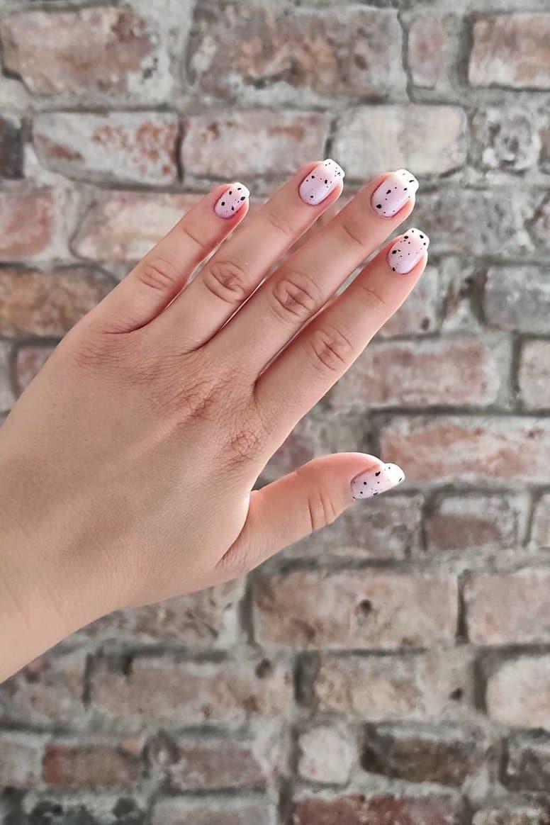 Unique black and white nails