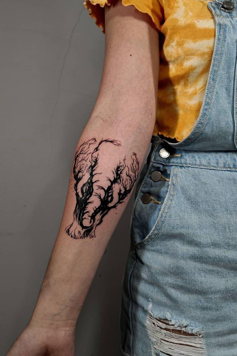 Unique elephant tattoo